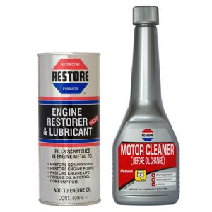 COMBINED OFFER! Ametech RESTORE Oil and Flush for 2 litre engine